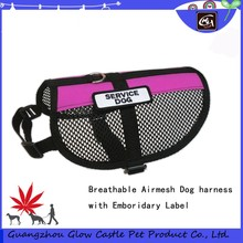 Soft and Breathable Airmesh Service Dog Harness with Emboridery Label