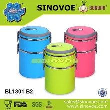 korean style two layer high quality stainless steel lunch box