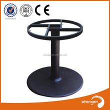 HD-003B Cast iron dining table cross leg glass dining table