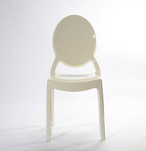 White stacking outdoor louis ghost chair