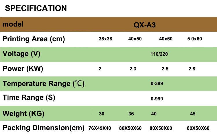 QX-A3 sublimação máquina da imprensa do calor máquina t-shirt da máquina de impressão