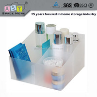 Plastic PP foldable makeup storage box with dividers