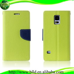 Mix color flip leather cases and cover for Samsung S5