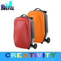 new coming imported PC material scooter trolley luggage suitcase /cabin/bag
