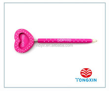 2015 high quality ball pen with heart frame