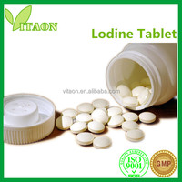 300 mg ISO GMP Certificate and OEM Private Label Foods Containing Iodine Tablets