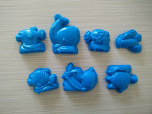 Summer sand playing toy,high quality plastic molds,seven-piece marine animal molds