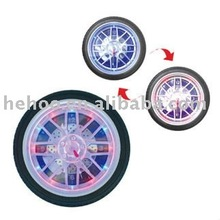 Tyre Wall Clock With Changing Color LED Light
