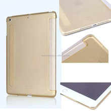 Good quality slim case cover flip cover case transparent cover for ipad