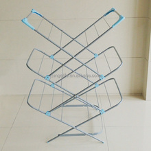 3 tier steel coating folding clothes hanger rack/clothes drying rack