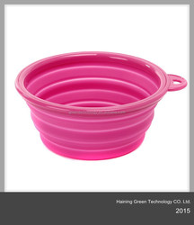collapsible silicone dog bowl with lid