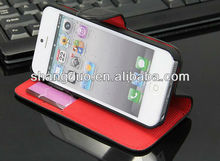 Leather cell phone case for iphone 5