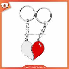 Newest Customized Souvenir broken heart keychain