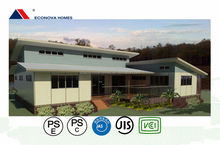 Japanese standard eco friendly prefabricated house with garage