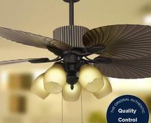 European style Four blades ceiling fan wrought iron fan lamp Energy saving