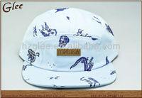 5 panel camper hat custom pattern printed