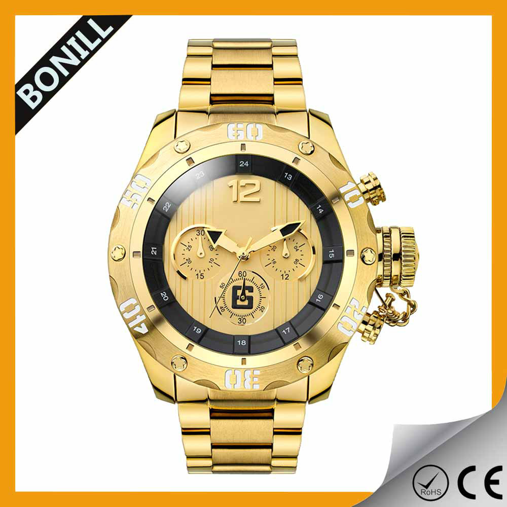 Custom Wholesale Big Face Stainless Steel Band Luxury ...