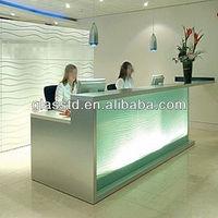 Contemporary glass front office desk design