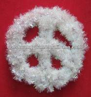 Peace sign Christmas tinsel decoration