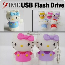 Hello Kitty Cartoon USB Drive Flash KT Usb Pen Drive Real Capacity 4GB 8GB 16GB 32GB 64GB Pendrive Usb Stick U Disk Gift