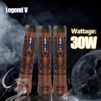best e cig mod custom carry case Kamry Retro wood Legend V Vape 2600mah, 18650 battery starter kit variable wattage vaporizer