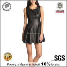 Online shopping wholesale clothing,ladies fashion leather new dress