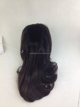 Wrap Around Ponytail, Ponytail with Jaw Clip in Hair Extension Draw String