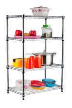 Adjustable steel shelving rack