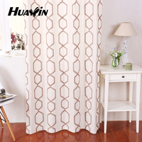 new style Deluxe elegant colors of embroidery curtains linen curtains