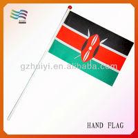 Customized Printed Ethiopian Plastic Hand Flag