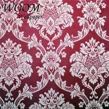 3d beautiful Vintage European style luxury gold Damascus pattern wallpaper for wall ktv living room Villa