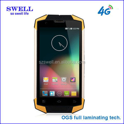 Rugged mobile phone 4G New arriving 5inch android4.4 waterproof IP68 Gorilla IPS screen swell x9 non camera android phone