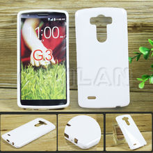 Hot Selling Fashion Transparent Clear Plain Protective Cover TPU Gel Case for LG G3