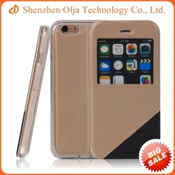 Shock proof PU leather cell phone case for iPhone 4s