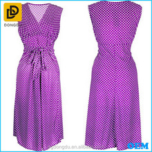 Wholesale OEM ODM new fashion Purple long sleeveless cocktail dress for party