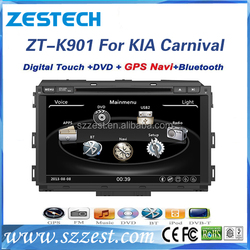 ZESTECH dual zone 9 inch special car radio, gps ,bluetooth, 2015 for kia carnival car radio