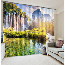 Newest hot selling home decorate 3d photo beaded curtain 100% polyester fabric for curtains