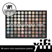 88 warm color eyeshadow palette with mirror cool eyeshadow