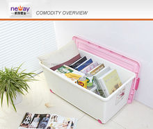65L good design colorful plastic storage container / storge box