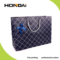 Manufacturer wholesale high quality vintage luxury printed paper shopping bag