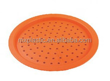 Colorful double non slip plastic round serving tray