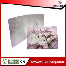 Custom Fancy Handmade Frame Wedding Invitation Card For Gift