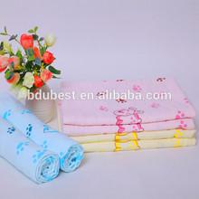 100% impreso de algodón bebé toalla, kid's toallas, bebé suave toalla