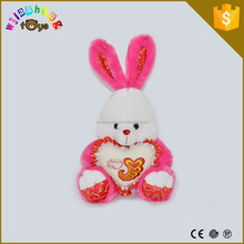 ICTI factory direct selling stuffed Easter baby toy dancing rabbit