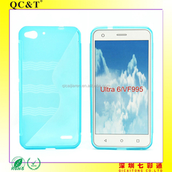 Free Sample Soft TPU Water Ripple S line Case Cover for VODAFONE Smart Ultra 6/VF995