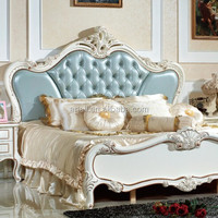 New neo classic Furniture Bedroom white rose whole set no MOQ solidwood American French style