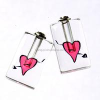 fashion jewelry perfume essential oil.hanging perfume pendant. jewelry crystal vial charm pendant