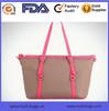 Best selling canvas bag with long handle waterproof PU handle canvas beach bag