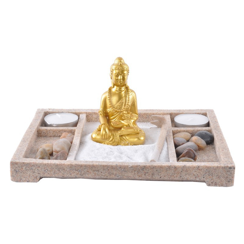 sandstone mini zen garden buddha statue resin crafts 14011. Black Bedroom Furniture Sets. Home Design Ideas