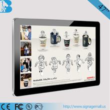 """19"""" wall mount digital signage /wifi 3g remote control"""